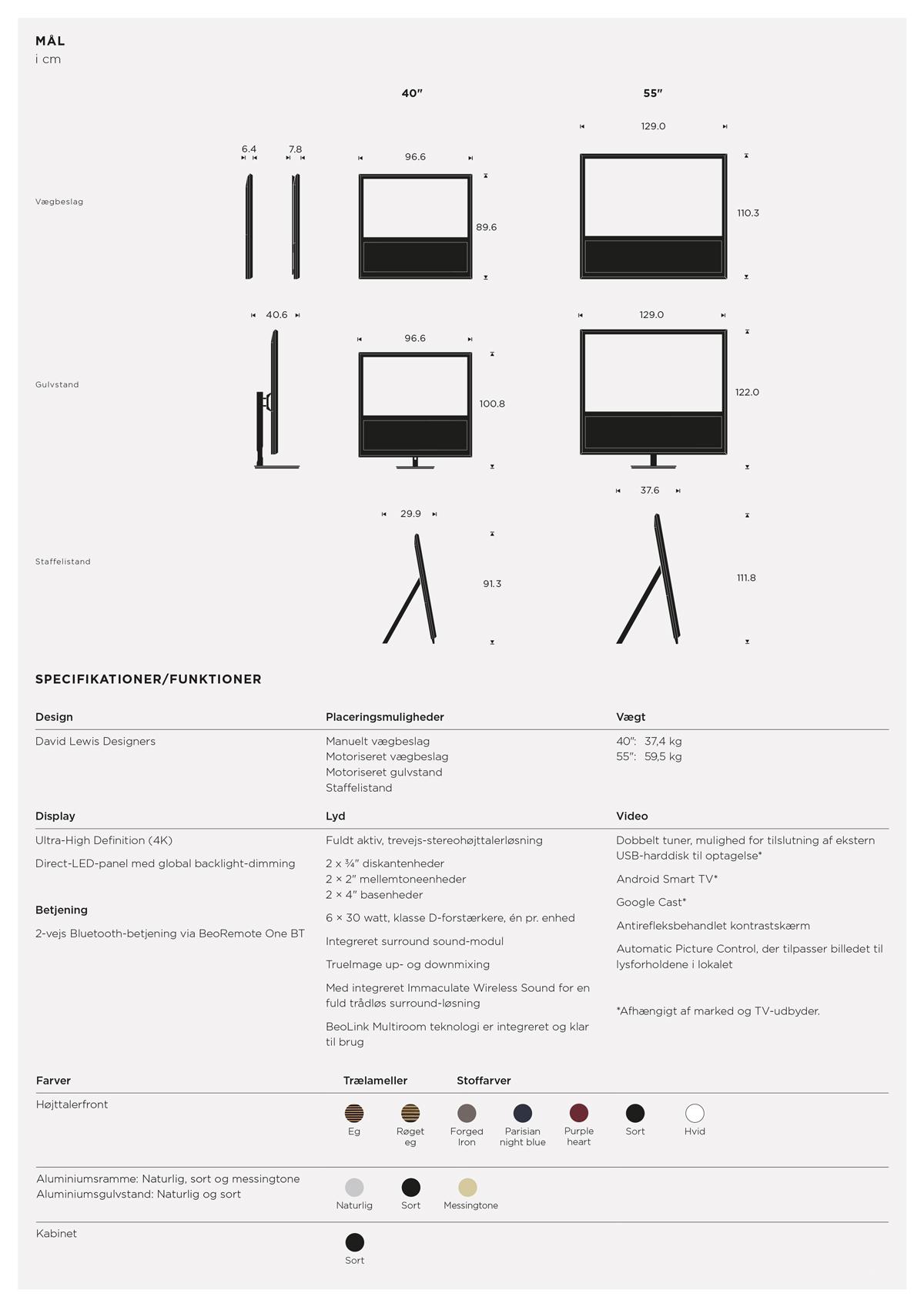 BeoVision 14 - Produktark