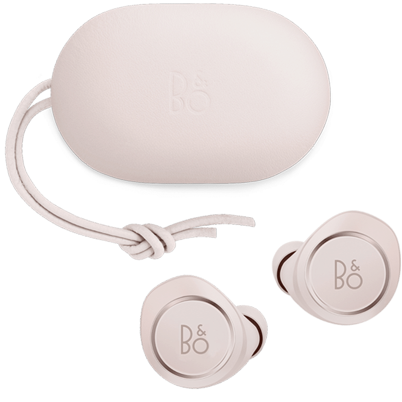 Beoplay E8 i powder pink special edition - background