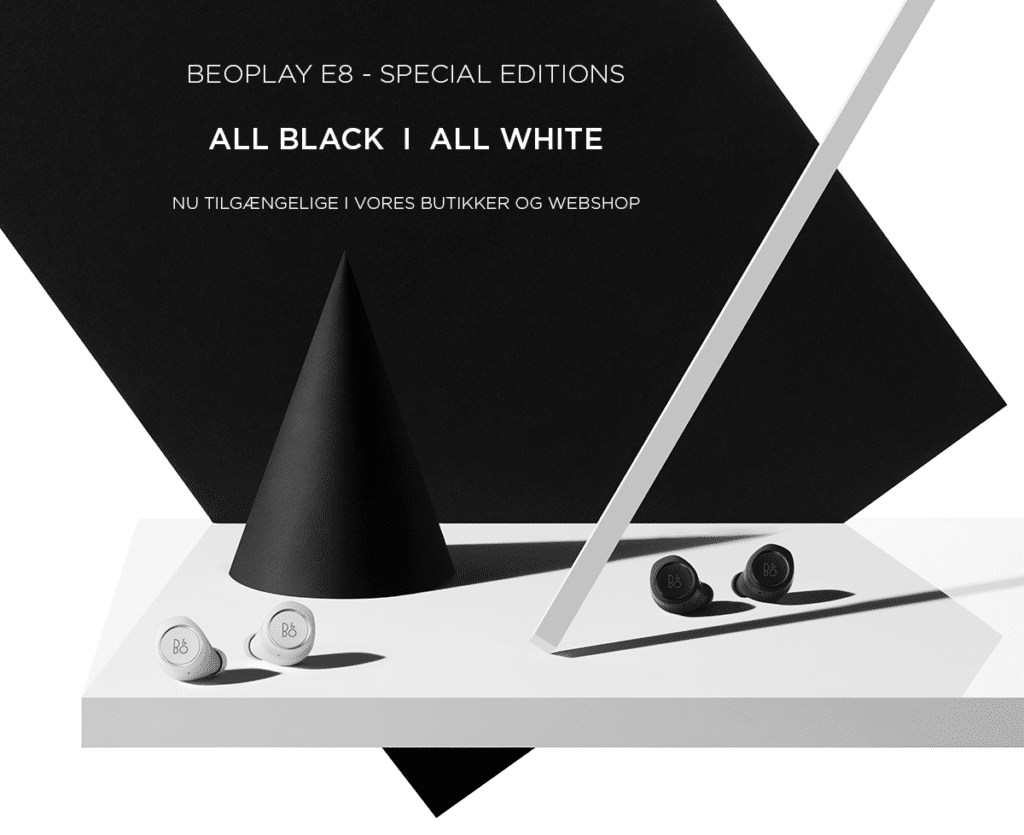 Beoplay E8 Special Editions - All Black / All White