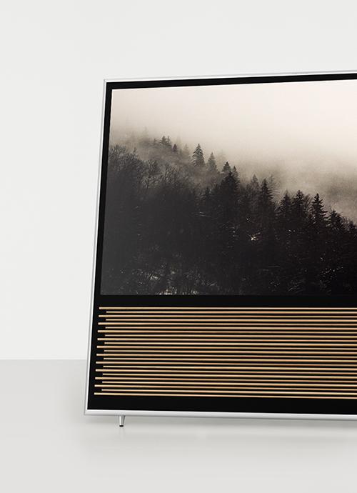 Beovision 14 på staffelistand med bjerge på skærmbillede